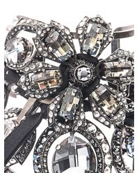Lanvin - Multicolor Volubilis Floral Crystal Cuff - Lyst