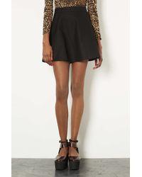 TOPSHOP - Black Textured Pocket Skater Skirt - Lyst