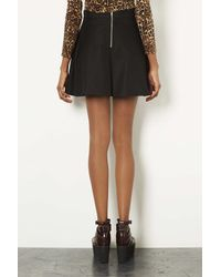 TOPSHOP - Black Textured Pocket Skater Skirt - Lyst
