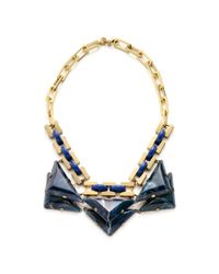 Tory Burch - Blue Ethan Collar Necklace - Lyst