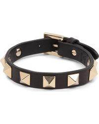 Valentino - Black Small Stud Bracelet - Lyst
