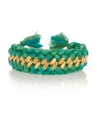 Aurelie Bidermann | Green Do Brasil Goldplated and Cotton Cuff | Lyst