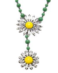 DANNIJO - Green Helena Necklace - Lyst