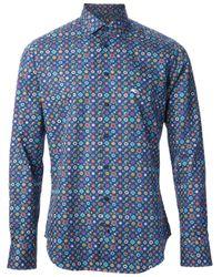 Etro   Blue Geometric Print Shirt for Men   Lyst