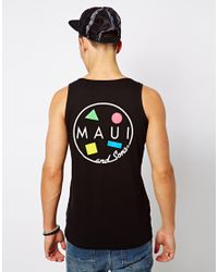 ASOS - Black Maui and Sons Tank Cookie Back Print Logo for Men - Lyst