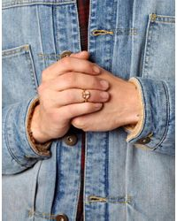 ASOS - Metallic Reclaimed Vintage Peace Ring - Lyst