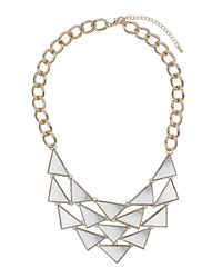 TOPSHOP | Multicolor Mini Mirrored Triangle Necklace | Lyst