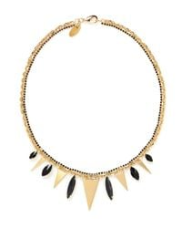 Iosselliani - Metallic Metal Triangle Stone Necklace - Lyst