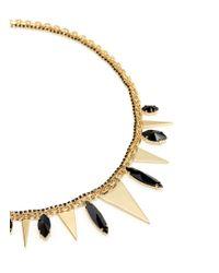 Iosselliani | Metallic Metal Triangle Stone Necklace | Lyst