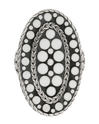 John Hardy - Metallic Oval Dot Ring - Lyst