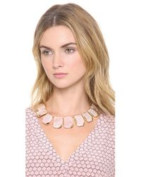 kate spade new york - Pink Stepping Stones Graduated Necklace - Lyst