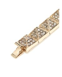 Valentino | Metallic Crystal-pavé Bracelet | Lyst