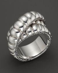 John Hardy | Metallic Bedeg Silver Wrap Ring | Lyst