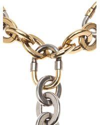 Lanvin - Metallic Chain Link Choker Necklace - Lyst