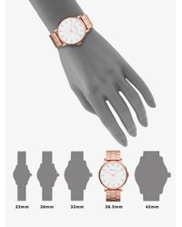 Marc By Marc Jacobs - Pink Baker Rose Goldtone Stainless Steel Bracelet Watch - Lyst