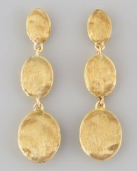 Marco Bicego | Yellow Siviglia 18k Gold Drop Post Earrings | Lyst