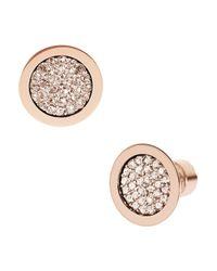 Michael Kors | Pink Pave Stud Earrings | Lyst