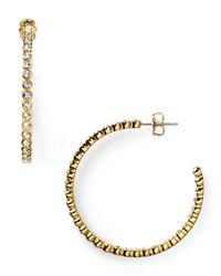 Nadri - Metallic New Basics Bezel Hoop Earrings - Lyst