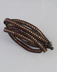Nakamol | Beaded Wrap Bracelet Blackgunmetal | Lyst