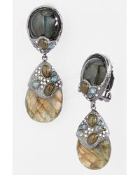 Alexis Bittar | Metallic Elements Jardin De Papillon Drop Clip Earrings | Lyst