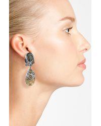 Alexis Bittar | Metallic Elements Jardin De Papillon Drop Clip Earrings | Lyst