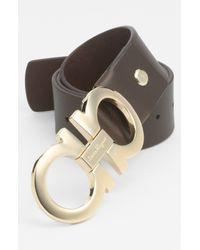Ferragamo   Brown Calfskin Belt for Men   Lyst