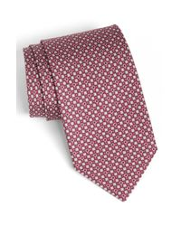 Ferragamo | Purple Elephant Print Silk Tie for Men | Lyst