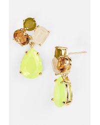 kate spade new york   Yellow Cluster Drop Earrings   Lyst