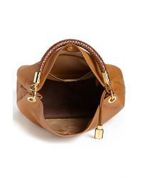 Michael Kors | Brown 'large Skorpios' Leather Shoulder Bag | Lyst