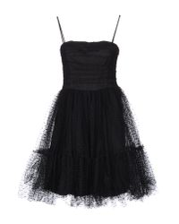 RED Valentino | Black Cotton Yarn Organza Dress | Lyst