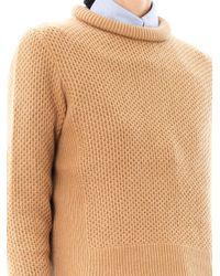 3.1 Phillip Lim - Brown Crew-Neck Wool Sweater - Lyst
