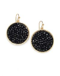 ABS By Allen Schwartz | Black Bead Set Drop Earrings | Lyst