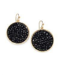 ABS By Allen Schwartz - Black Bead Set Drop Earrings - Lyst