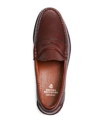 Brooks Brothers - Brown Allen Edmonds Beef Roll Pebble Penny Loafers for Men - Lyst