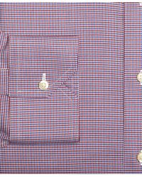 Brooks Brothers - Purple Supima Cotton Noniron Slim Fit Spread Collar Twill Houndstooth Check Luxury Dress Shirt for Men - Lyst