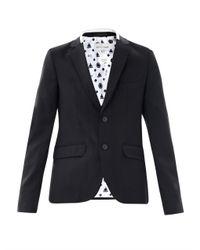 Each x Other - Black Raw Edge Wool Blazer for Men - Lyst