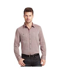 Kenneth Cole - Purple Long Sleeve Iridescent Twill Shirt for Men - Lyst