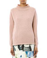 Max Mara Studio | Pink Circolo Sweater | Lyst
