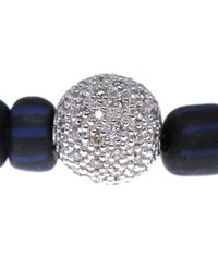 Ruby Kovo - Blue Bead Diamond Bracelet - Lyst