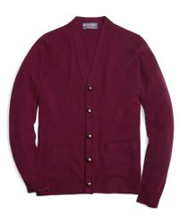 Brooks Brothers | Purple Cashmere Button Cardigan for Men | Lyst
