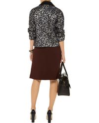 Marni | Black Compact Cady Pencil Skirt | Lyst