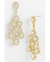 Nadri | Metallic Framed Chandelier Earrings | Lyst