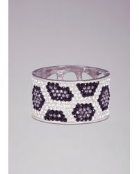 Bebe - White Crystal Animal Bracelet - Lyst