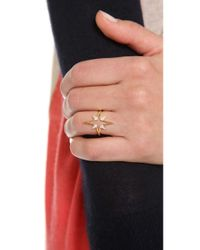 Elizabeth and James - Metallic Northern Star Open Star Ring - Lyst