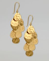 Ippolita | Metallic Cascade Earrings, Gold | Lyst