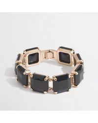 J.Crew | Metallic Factory Square Stone Bracelet | Lyst