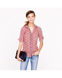 J.Crew - Red Liberty Boy Shirt in Betsy Ann Floral - Lyst