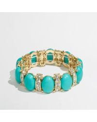 J.Crew | Metallic Factory Bubble Crystal Stretch Bracelet | Lyst