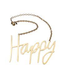 Lanvin - Metallic Happy Necklace - Lyst