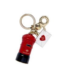 Mulberry | Red Love Letter Keyring | Lyst